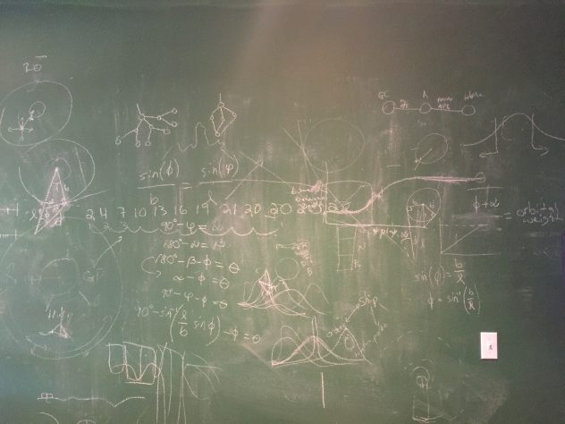 That chalkboard gets a lot of use!
